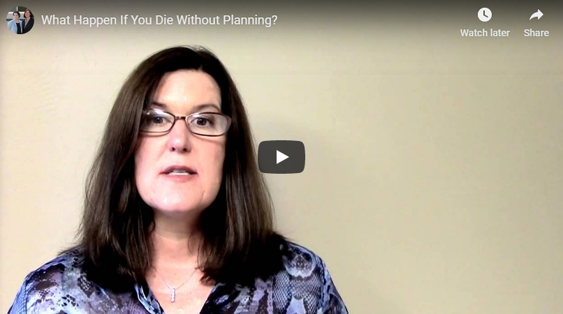 video titled what happens if you die without planning