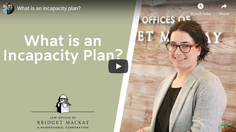 Video titled What is an Incapacity Plan?