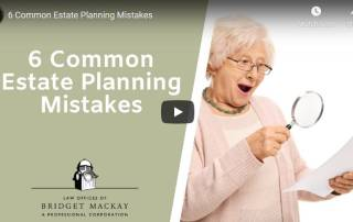 video titled 6 common estate planning mistakes