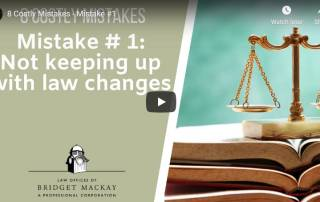 video titled mistake 1 not keeping up with law changes