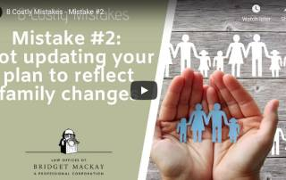video titled mistake 2 not updating your plan to reflect family changes