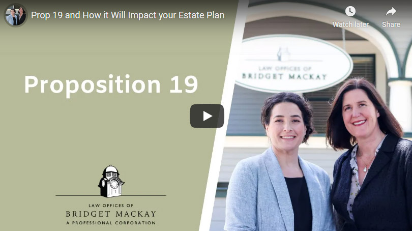 video titled proposition 19 your estate plan